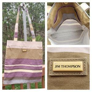 Jim Thompson Shopper Tote Canvas Stripes